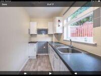 Fitted kitchen units, washing machine and fridge freezer