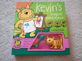 Kevin's Magical Masterpiece Book and Toy Set with Fold Out Scene, Brand New