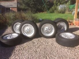 SIX 16 inch Alloy wheels & tyres. Alloys in Excellent condition, 4 very good tyres 1 Good tyre
