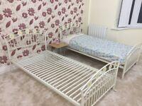 Child's metal bed frame