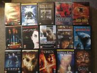 75 DVDs. Different genres.