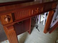 Teak fire surround