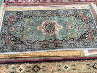 Attractive Small Vintage Oriental 100% Wool Rug