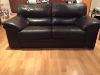 3 and 2 seat suite - brown leather