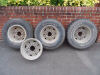 "TOYOTA Hilux / Ford Ranger Surf 15"" Alloy Wheels and Tyres - 235/75/R15"