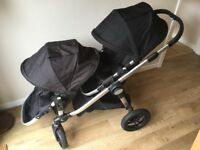 Baby Jogger City Select Double Pushchair - great single/double pram/pushchair
