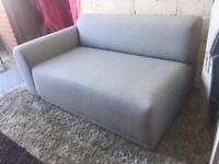 New Grey Fabric Modular Sofa 2 Seater Chaise Corner Sofa