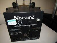 Pair Of BeamZ LED Multiradient 5X3W RGBAW Disco Lights.