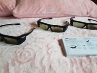 3x Samsung 3d glasses
