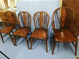 Set of 4 wheel back chairs