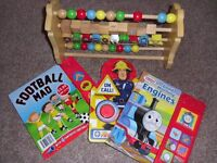 Thomas the Tank abacus and 3x boy noise books
