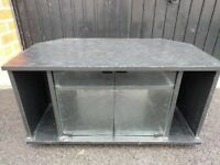 Black wooden corner TV stand - good condition
