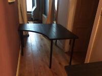 Black Ikea Corner Desk