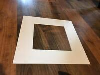 White bevel cut mounts for 6x6 and 6x4 prints/art