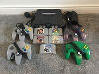 Nintendo 64 (N64) Bundle – 5 Games & 4 Controllers