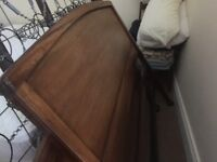 Double antique mahogany bedstead