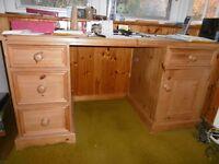 Hand built pine desk £100 or near offer