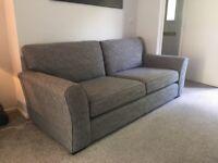 Next grey 3 seater sofa