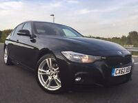 2012 BMW 3 SERIES 2.0 318d M SPORT 4dr (start/stop) BLACK+RED LEATHER+ FULL HISTORY