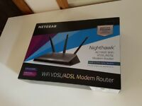 Netgear Nighthawk AC1900 WiFi VDSL/ADSL Modem Router (BT Infinity etc) - Virtually brand new