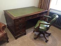 *WANTED ANTIQUE LEATHER TOP DESKS & CHESTERFIELD CHAIRS/ SOFAS ***