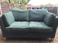 2 SEATER SOFA IN VERY GOOD CONDITION WITH CUSHIONS FROM SMOKE/PET FREE HOME