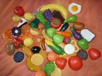 Plastic fruit and foodstuffs