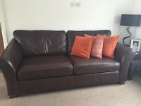 Marks & Spencer's Abbey Fine Leather Large 2 Seater Sofa