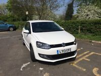 Volkswagen polo 2013(13)plate 5drs petrol manual 1.2 white