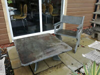 Natural Slate Patio Table & Chair