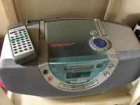 Panasonic portable stereo, CD, radio & cassette tape