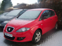 2007 07 SEAT ALTEA EXCELLENT FAMILY CAR NEW MOT LOW MILAGE LOW PRICE £2395