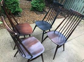 4 Original Ercol Dining Chairs