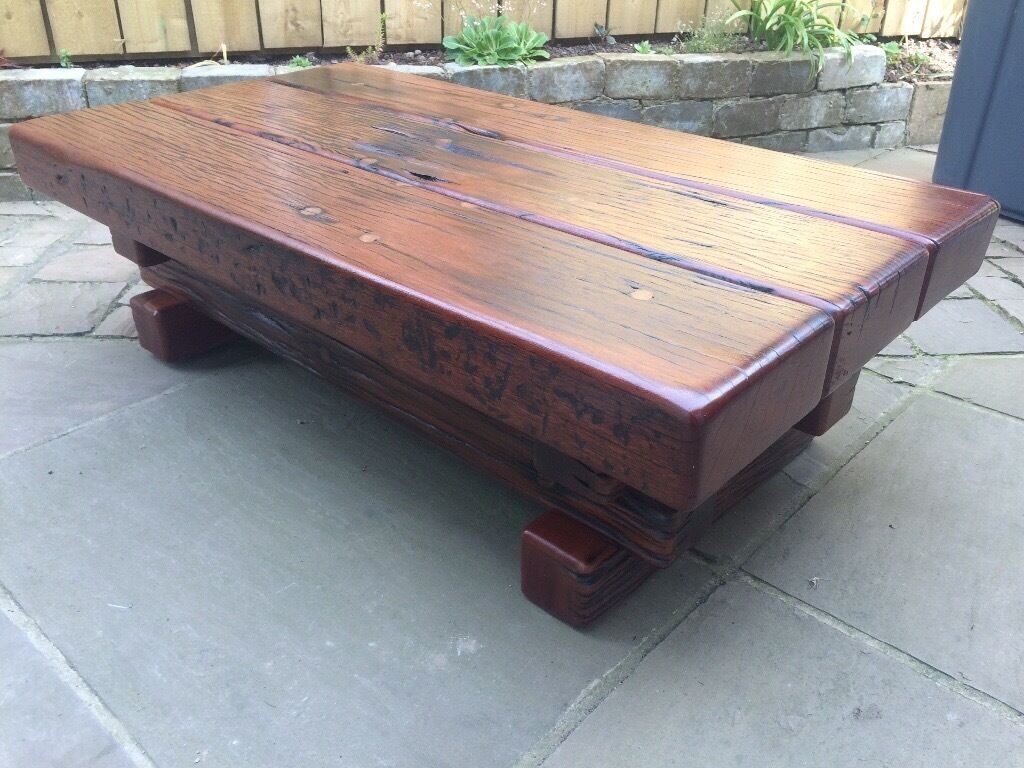 Jarabosky solid hagar rectangular coffee table made from jarrah jarabosky solid hagar rectangular coffee table made from jarrah reclaimed railway sleepers geotapseo Gallery