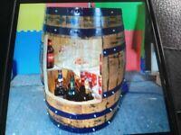 real oak whisky barrel bar conversion