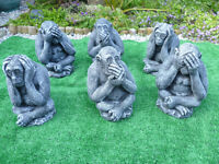 3 wise monkeys garden ornaments £15