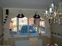 Swags and Tails Sets. All Sizes Made To Measure Cheapest In The UK Patio Door Sets £186.50 Free P&P