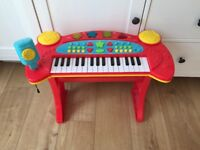 Children's Toy Keyboard and Stool