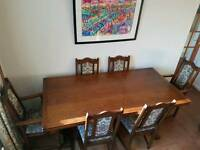 Old Charm Oak Dining Table