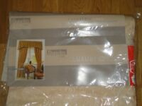New Dunelm lined curtains £10 in packaging fawn/light gold colour 112 x 137cm 44 x 54 inches long