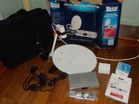 Mobile Digital Mini Satellite Systeme Dish for Caravan Camper Van Motor Home TV