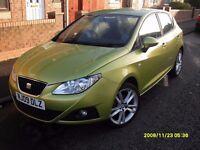 SEAT IBIZA 1.4cc..2009..5 doors..green..Full Mot