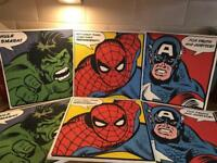 Avengers canvas pictures set of 3. 2 sets available