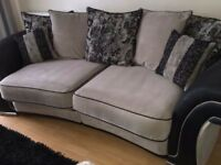 DFS COUCH LARGE ARMCHAIR AND FOOTSTOOL