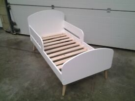 Ex display Bargain Toddler bed 'Soft white' colour. Can deliver.