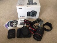 Canon EOS 6D SLR with 24-105 mm f/4L IS USM lens. **Boxed and in Excellent condition**