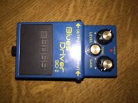 BOSS BLUES DRIVER BD-2 GUITAR EFFECTS OVERDRIVE PEDAL