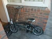 Folding bike smaller and city bike .. make closer offer