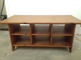 Used Wooden Table with 6 compartments in good condition
