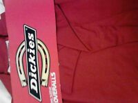 "Men's Clothing - new ""Dickies"" red overalls £10.00 each"